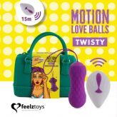 Feelztoys Motion Love Balls wibrujące jajko na pilota