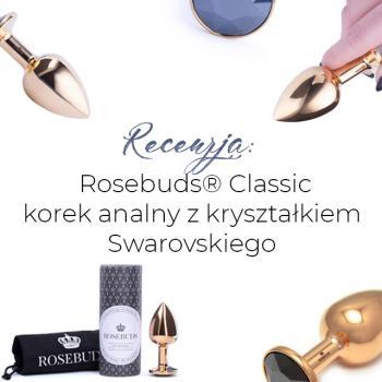 Złoty korek analny Rosebuds® z kryształkiem Swarovskiego