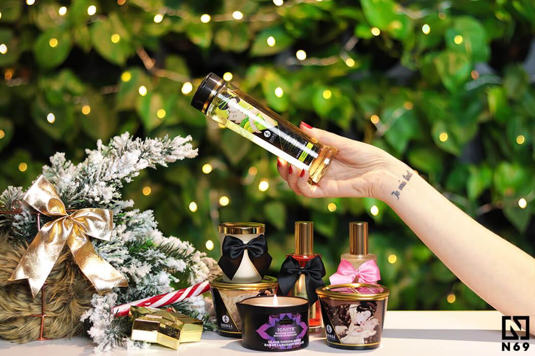 świece i olejki do masażu