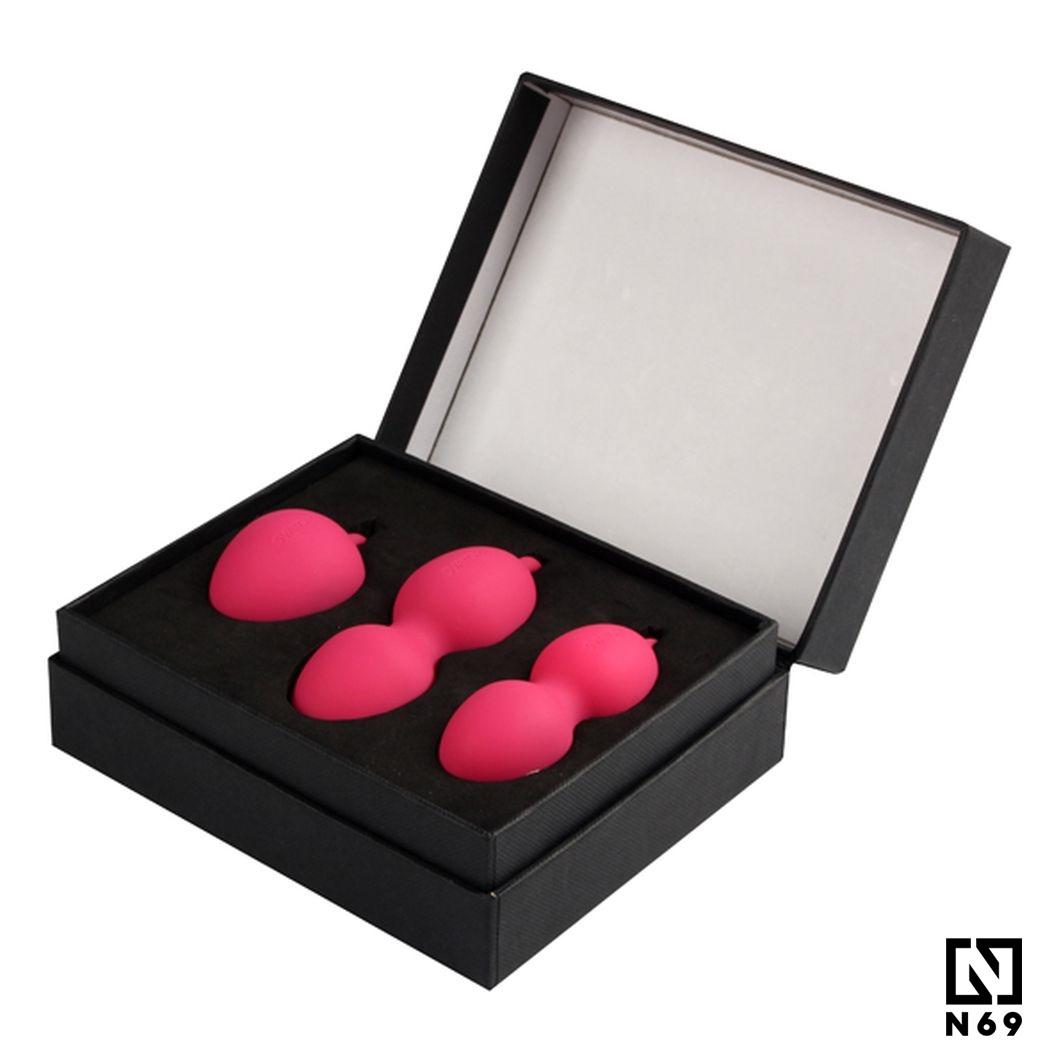 różowe kulki gejszy w pudełku