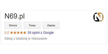 opinie o n69 google