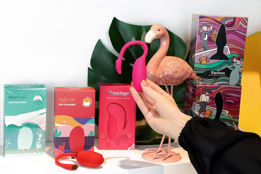 sex shop Warszawa N69 wibrujące jajeczka Magic Motion Fugu i Flamingo